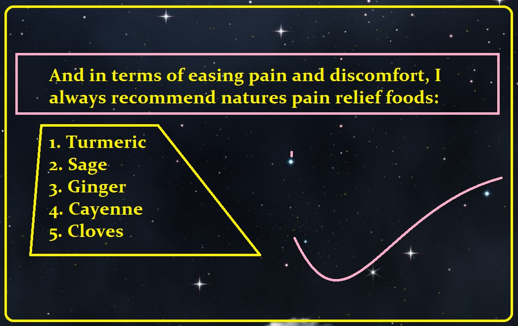 I always recommend natures pain relief foods