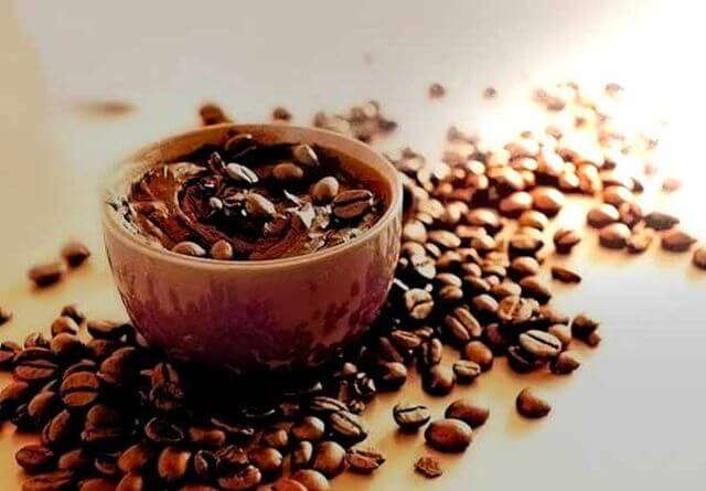 coffee scrubs for face and body. Tasty transformation